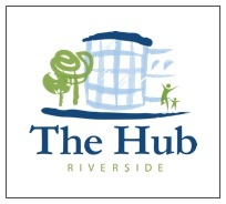 the hub riverside – bottom left logo block