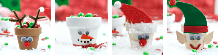 Christmas Character Sweet Pots